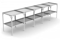 "Removable 22"" wide tray 2 Tier 9'4"""