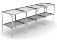 "Removable 22"" wide tray 2 Tier 7'6"""