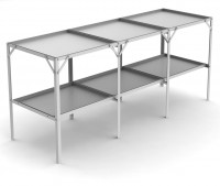 "Removable 22"" wide tray 2 Tier 5'8"""