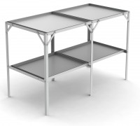 "Removable 22"" wide tray 2 Tier 3'10"""