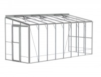 Robinsons Lean-To 6ft5 x 24ft Plain aluminium
