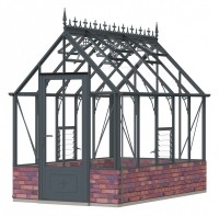 Robinsons Rugby dwarf wall Anthracite 6ft x 10ft