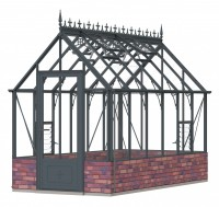 Robinsons Rugby dwarf wall Anthracite 6ft x 12ft