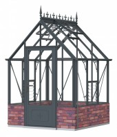 Robinsons Rugby dwarf wall Anthracite 6ft x 6ft