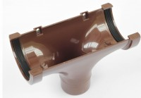 """Running outlet Brown for 3"""" gutters to 2"""" Downpipe 02-2520A"""