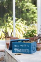 Seed Packets Organiser petrol blue