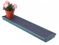 Self watering tray for window sill