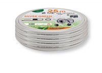 Silver Green Hose Pipe  25m Long  -9010