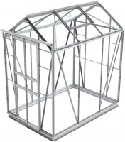 simplicity sandon plain aluminium greenhouse 4ft2 wide 1295mm x 6ft3 long 1910mm