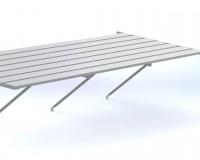 """Slatted staging 25"""" x 22ft Plain Aluminium"""