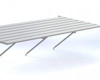 "Slatted staging 25"" x 31ft Plain Aluminium"