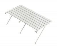 "Slatted Staging 25"" x 4ft White"