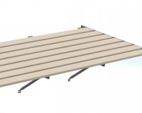 "Slatted Timber staging 25"" x 4ft Plain Aluminium frame"