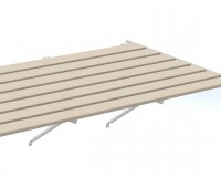 "Slatted Timber staging 25"" x 6ft Ivory frame"