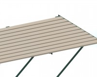 "Slatted Timber staging 37"" x 4ft Green frame"