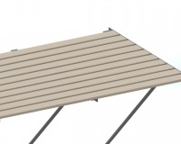"Slatted Timber staging 37"" x 4ft Plain Aluminium frame"