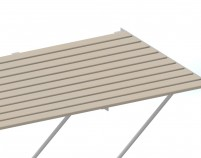 "Slatted TImber staging 37"" x 4ft White frame"
