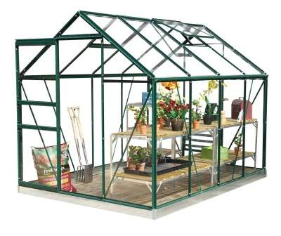 Best selling Classic 6ft x 8ft Green Greenhouse Starter Package