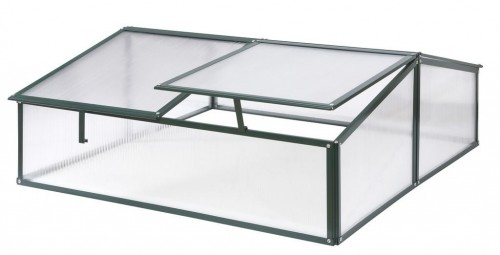 Polycarbonate Double Safety Cold Frame Green